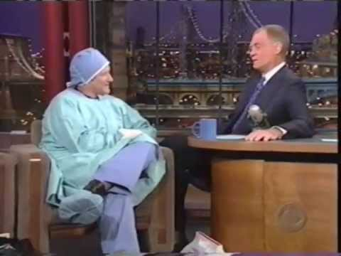 Robin Williams on Letterman Post Surgery 2000