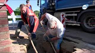 Vrouw door stoep gezakt in Merkelbeek