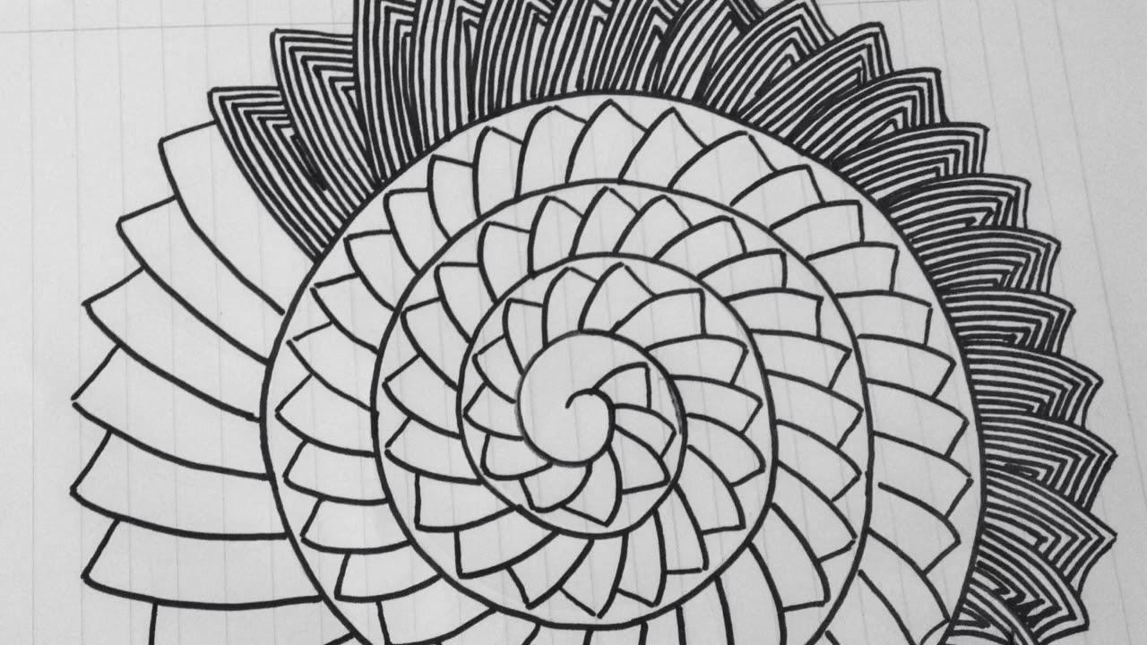 رسم زخرفة بسيطة وسهلة رقم 78 Youtube