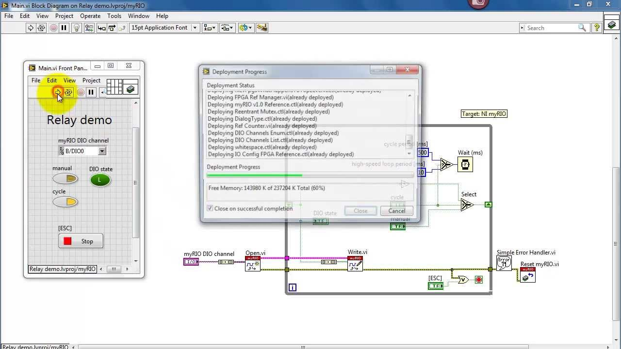 Ni Myrio Relay Demo Labview Project Youtube Switch Debounce