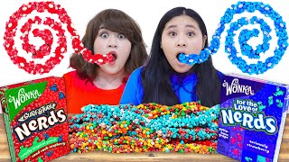 MUKBANG ROPE JELLY NERD CANDY | FUNNY EATING SNACKS & CRAZY CHALLENGES BY CRAFTY HACKS PLUS