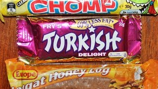 From Australia: Caramel Chomp, Europe Nougat Honey Log & Fry's Turkish Delight Review