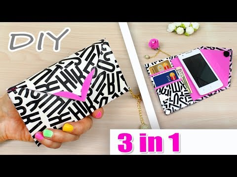DIY PHONE CASE & WALLET | Fashion Idea No Spending Money