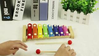 Children Wooden Octave Hand Knocking Piano Early Education Baby Puzzle Musical Wood Toys