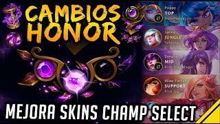 CAMBIOS al HONOR y SKINS - Más COSAS GRATIS | Noticias League Of Legends LoL