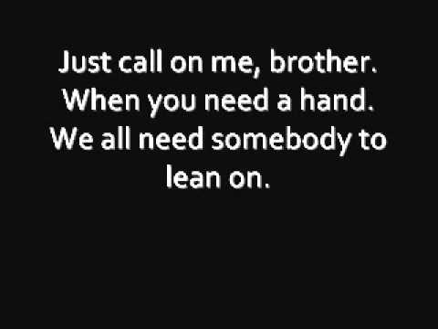Lean On Me Lyrics - Glee Version