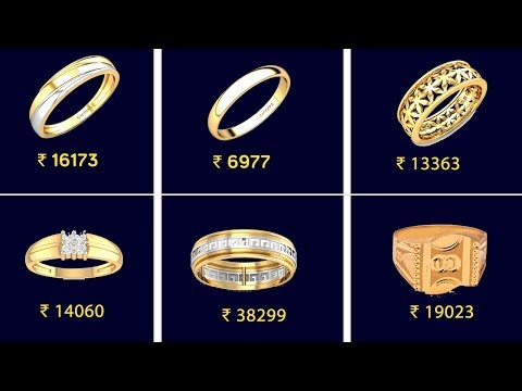 latest-916-gold-ring-for-men-with-price- -22kt-&-18kt-gold-rings- -engagement-rings-designs