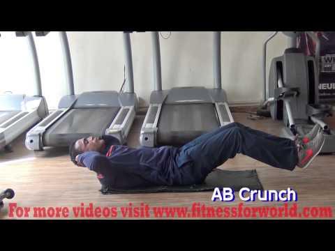Abdominal Crunch by Expert  Mayur Deshpande (ACSM & ACE certified) Mumbai