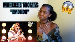 "MaKenzie Thomas Performs ""Emotion"" - The Voice 2018 Live Top 11 Performances (REACTION)"
