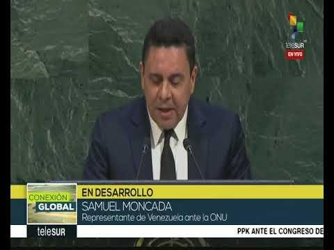 Intervención de Samuel Moncada (Venezuela) en Sesión de la ONU sobre Palestina