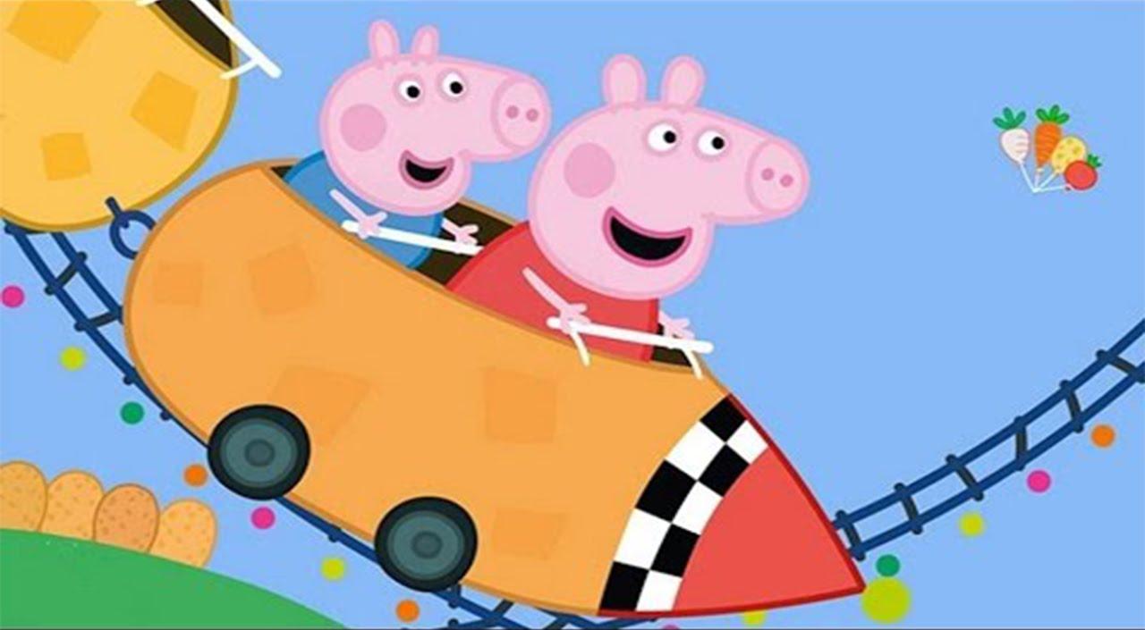 Famlia Peppa Pig no Parque de Diverses Theme Park Roda Gigante