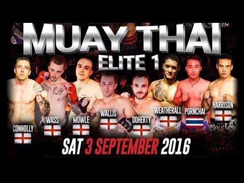 Brady Collins Vs Paul Benson Muay Thai Elite 1