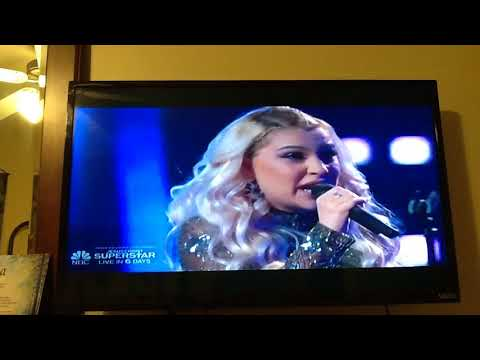 The Voice-Battle- Mia Boostrom & Geneiss Diaz - Performance-  Because Of You.  March 26,  2018..