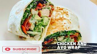 Chicken Avocado Wrap | Healthy Lunch Recipe Quick \u0026 Easy
