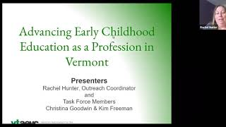 PD1: Intro to Advancing ECE as a Profession in Vermont