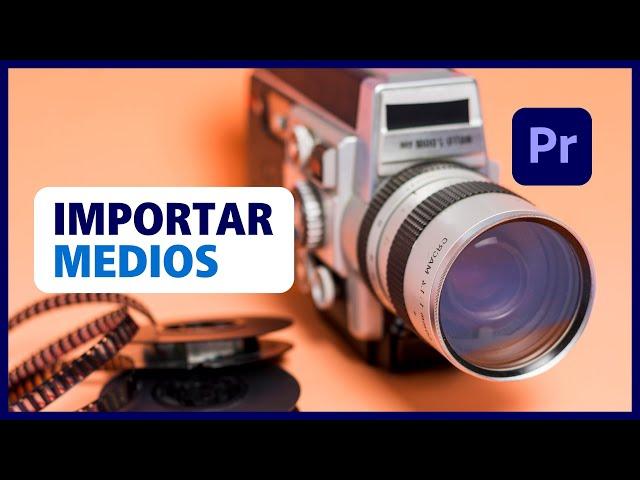 📙 IMPORTAR y ORGANIZAR Archivos Multimedia en PREMIERE   Curso Premiere