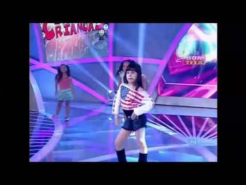 Mini Anitta  Julinha Dúru  no Programa Raul Gil Eu e as Crianças show das poderosas  11 01 14
