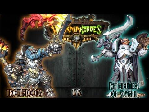 Warmachine & Hordes - Trollbloods (Horgle 2) vs. Retribution (Vyros 1) - 75pt Battle Report