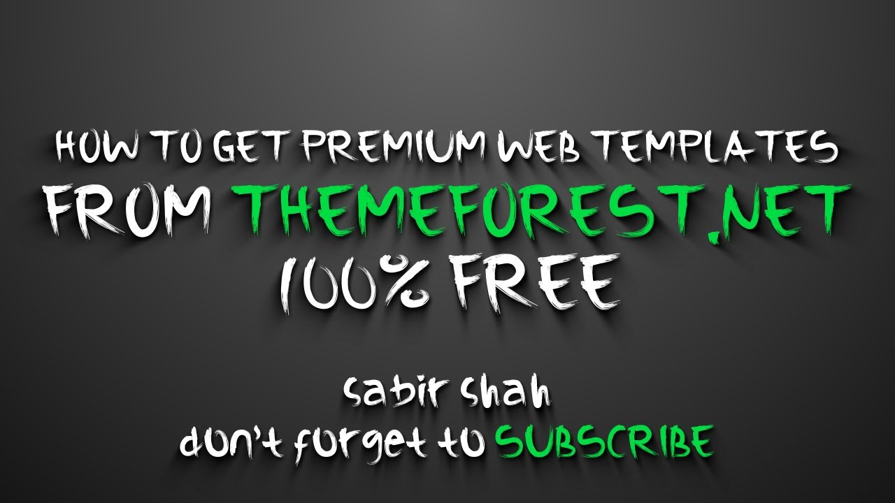 How To Get Premium Web Templates From Themeforest 100 Free