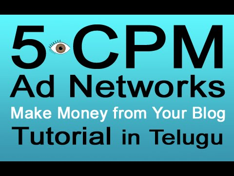 5 Best Cpm Advertising Networks Make Money From Your Blog Youtube