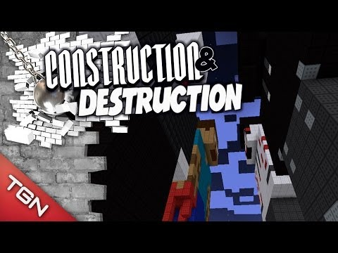 BERS & TOWN VS SLENDERMAN & HEROBRINE - CONSTRUCTION & DESTRUCTION