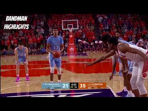 Cameron Johnson North Carolina vs Clemson/1.30.18/Highlights/32pts 4reb