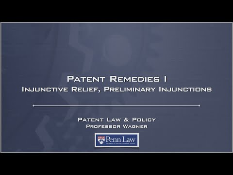 Lecture 23 - Patent Remedies 1