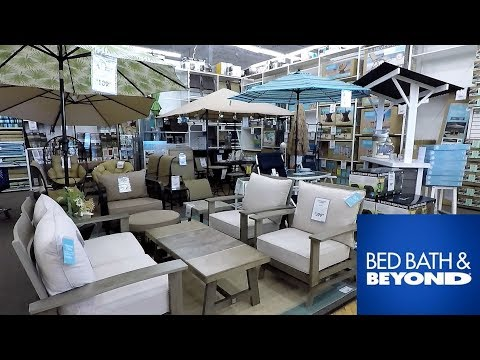 BED BATH AND BEYOND OUTDOOR FURNITURE HOME DECOR SUMMER SHOP WITH ME SHOPPING STORE WALK THROUGH 4K