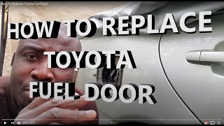 How To Replace Toyota Fuel Door/Hinge -Repair Toyota Fuel Cover (For Sienna, Corolla, Camry, Avalon)