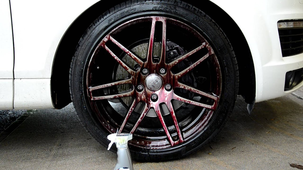 Sonax Full Effect Wheel Cleaner - Audi Q7 21 inch S-Line Wheels - YouTube