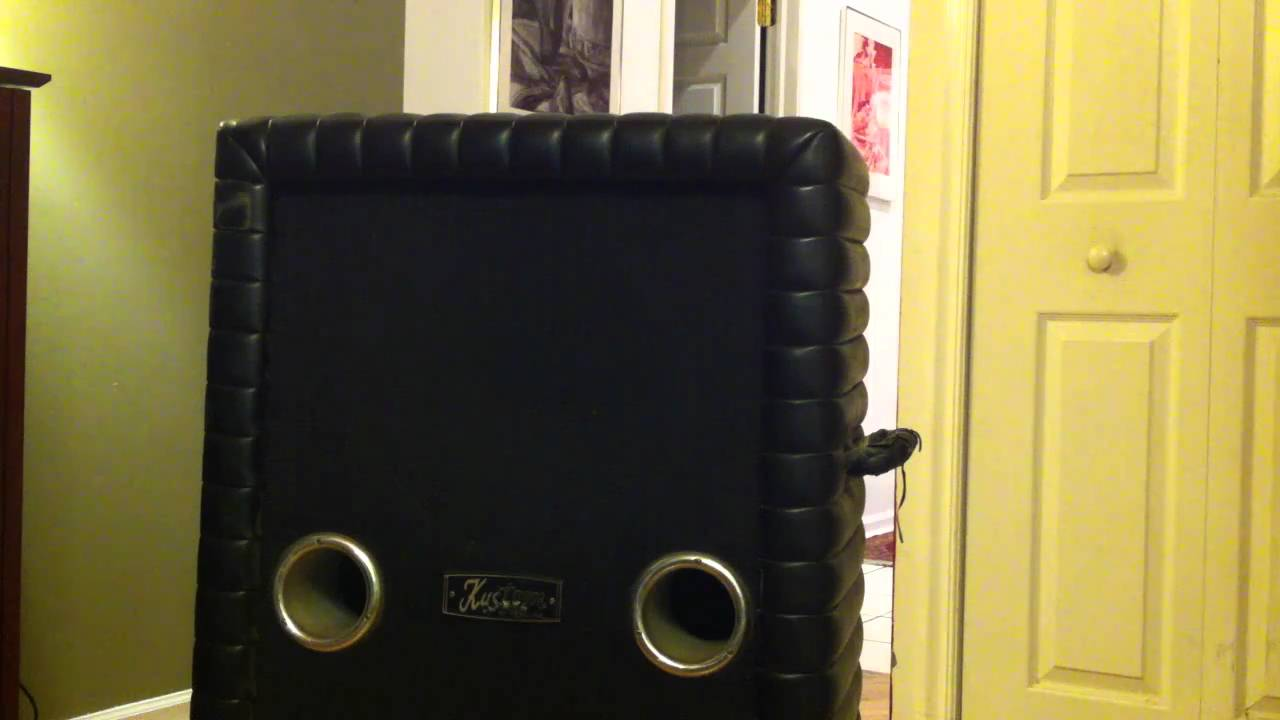 Kustom 1x12 Cabinet Kustom 2 15 Bass Speaker Cabinet For Sale Sold Youtube