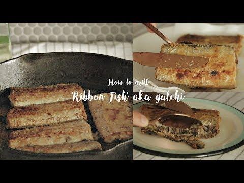 How To Grill/Eat 'RIBBON FISH' AKA GALCHI~ 🔥