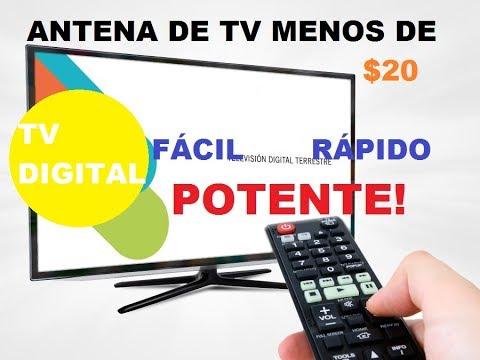 Como hacer una antena hd para tv digital casera 2017 youtube for Antenas de tv interiores