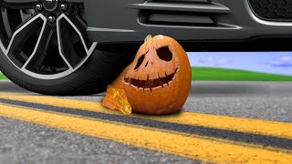 Crushing Crunchy & Soft Things by Car! HALLOWEEN! Oddly Satisfying videos ASMR Tire Crush EXPERIMENT