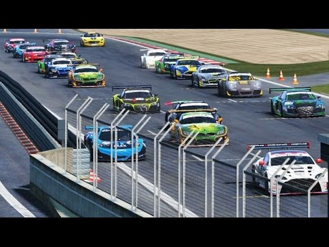 ABGF GT3 Ligageneralprobe mit Safety Car, 24h Simuliert+TS Chat 60Fps