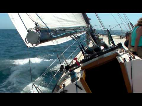 Twenty knots winds on a Columbia 50