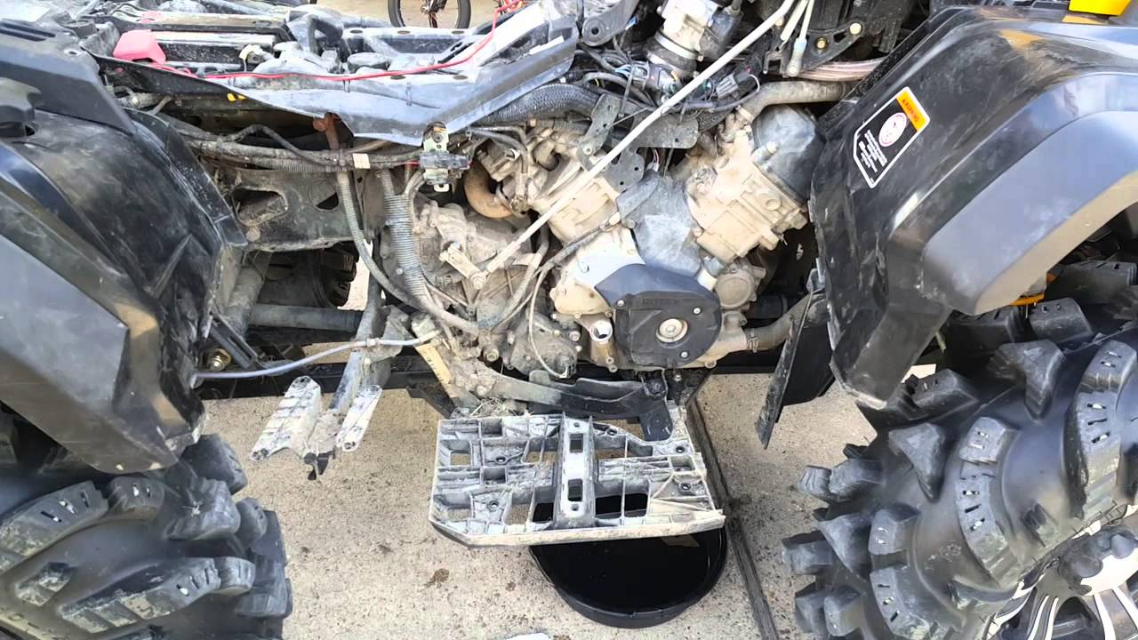 Can Am Outlander Max 2018 >> My 1st oil change Can Am Outlander - YouTube