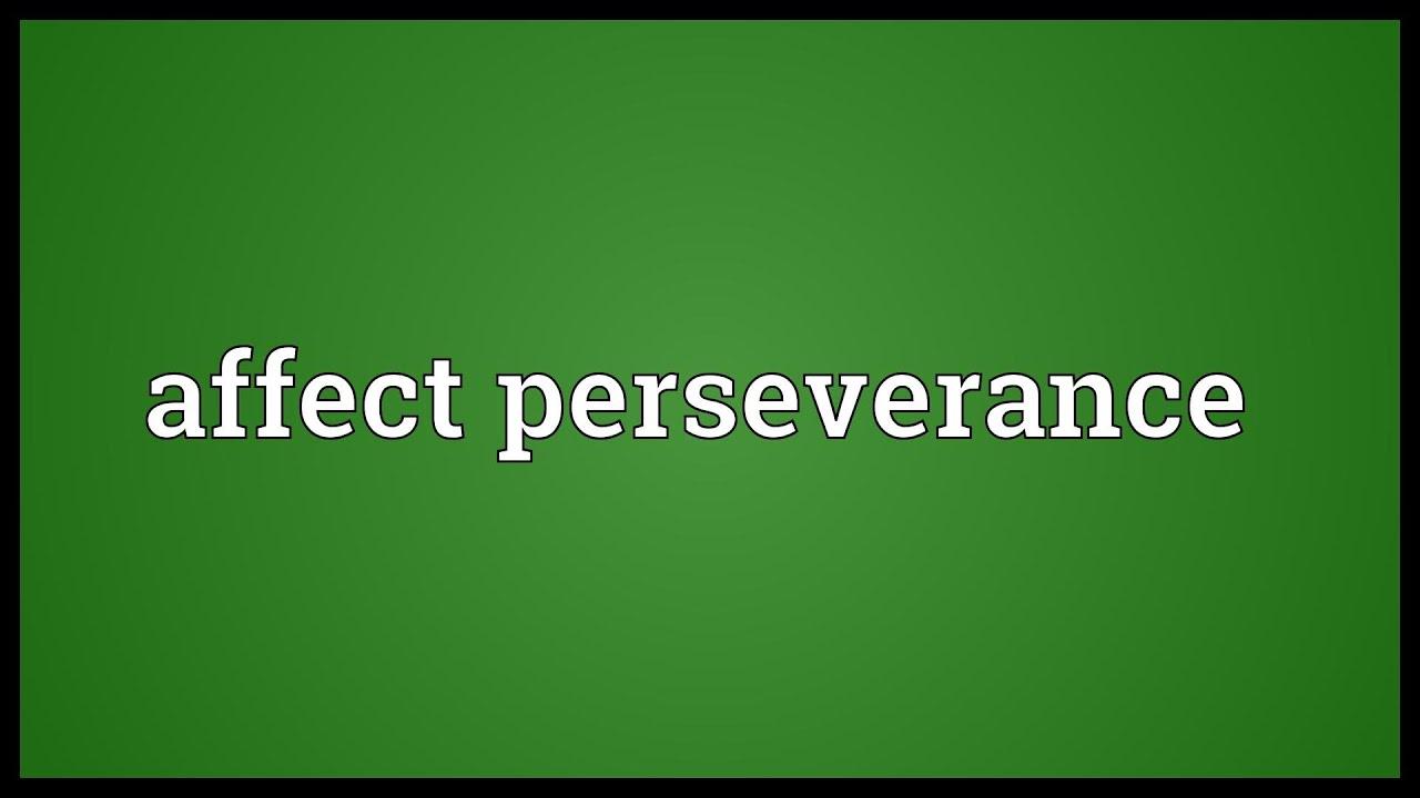 perseverance definition wikipedia