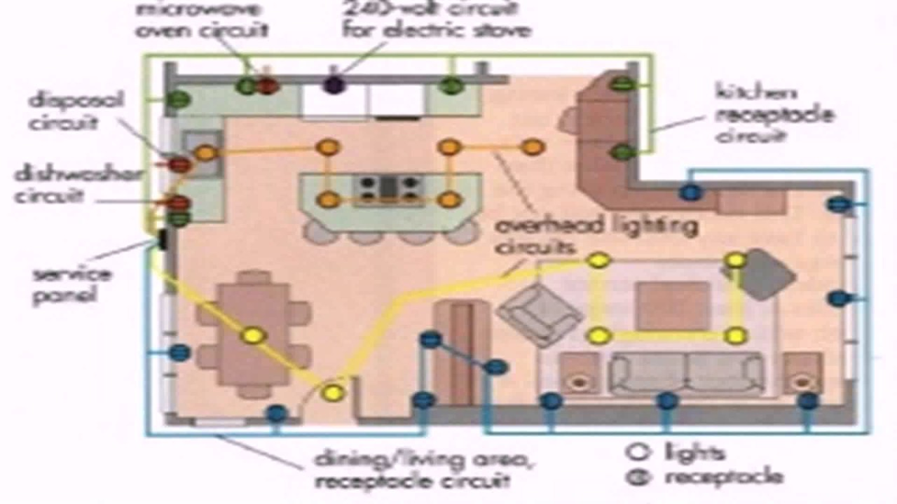 floor plan with electrical layout youtubeelectrical house plan layout 19 [ 1280 x 720 Pixel ]