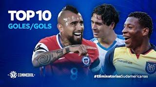 Top 10 de goles de las primeras 4 fechas de las #EliminatoriasSudamericanas 🔥⚽️