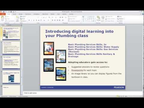 Introducing digital learning into your Plumbing class