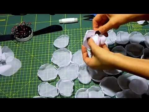 Видео цветы из ткани урок