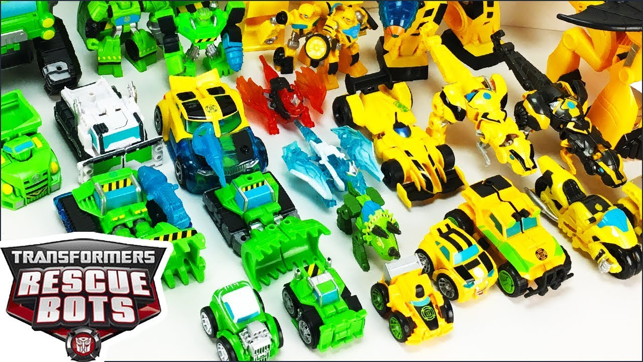 Transformers Rescue Bots Toys Collection Featuring Boulder And