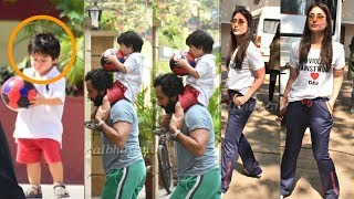 Kareena Kapoor Khan first time plays footbal with son Taimur Ali and Hubby Saif Ali Khan