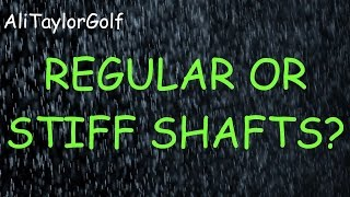 REGULAR OR STIFF FLEX SHAFTS