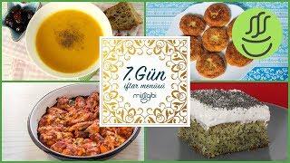 Ramazan 7. Gün İftar Menüsü: Fırında Tavuk - Patates Köftesi - Balkabağı Çorbası - Haşhaşlı Revani