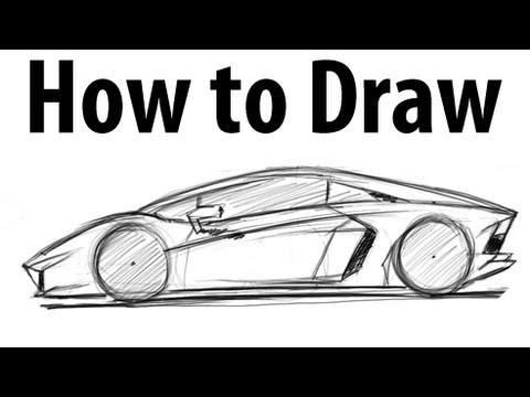 How to draw a lamborghini aventador sketch it quick