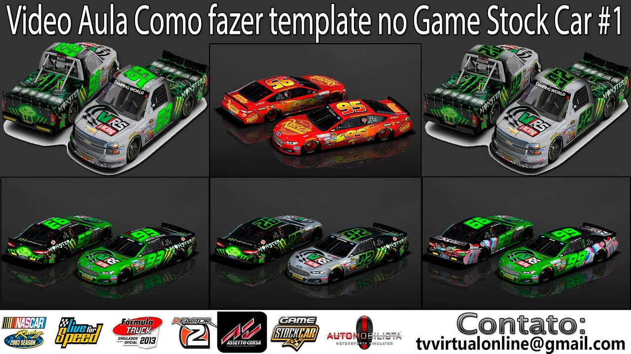 Video Aula Como fazer template no Game Stock Car #1