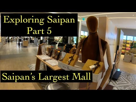 [4K] Exploring SAIPAN (Part 5) - Siapan's Largest Mall - DFS Galleria SHOPPING MALL