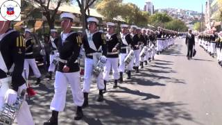 Academia Politécnica Naval, desfile en Valparaíso, 18 de septiembre de 2013